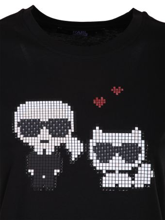 Karl Lagerfeld Karl pixel choupette t-shirt