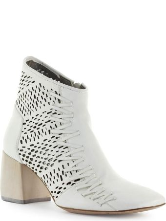 IXOS White Perforated Ankle Boot