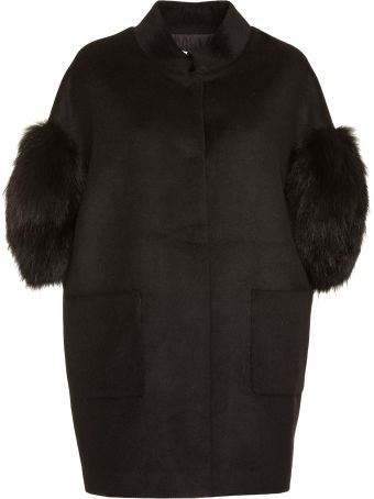Bully Coat With Fur Sleeves