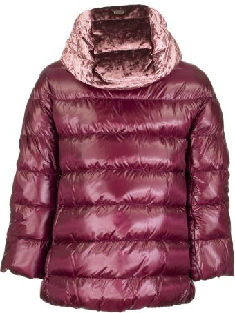 Herno Bordeaux Down Jacket With Hood