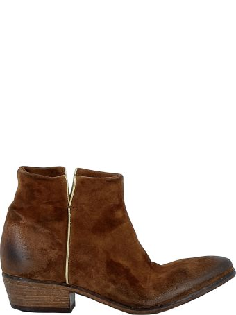 Elena Iachi Brown Suede Ankle Boots