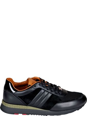 Bally Leather Sneakers In Black
