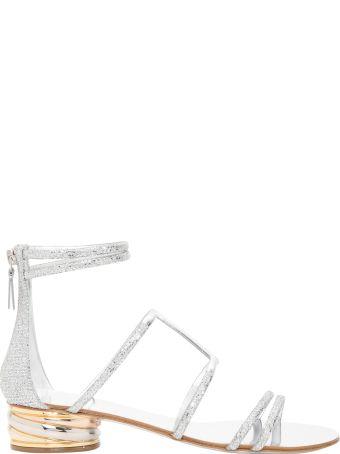Casadei Glitter Flat Sandals