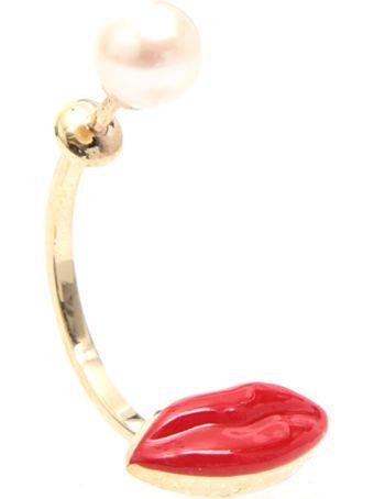 Delfina Delettrez Lips Earring 9kt Gold