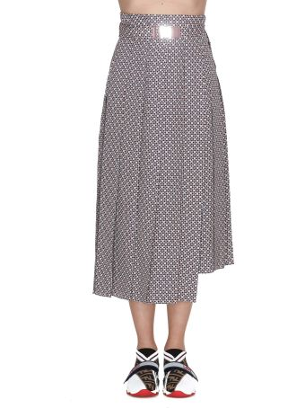 Fendi Romantic Tiles Silk Skirt