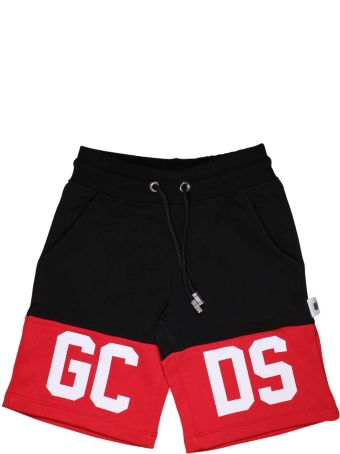 GCDS Mini Black And Red Bermuda Gcds