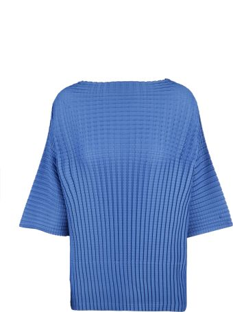 Pleats Please Issey Miyake Pleats Please By Issey Miyake Textured Cropped Top