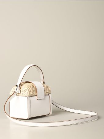 Rodo Mini Bag Rodo Bag In Leather And Wicker