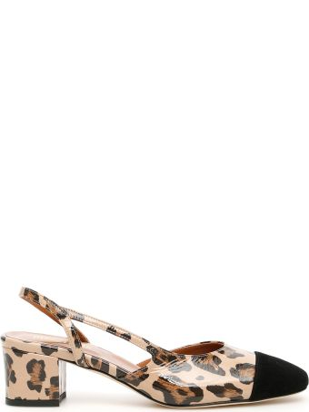 Paris Texas Leopard-printed Patent Slingbacks