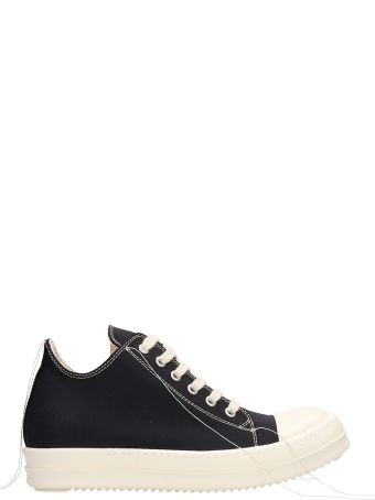 DRKSHDW Black Fabric Low Sneakers