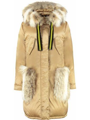 Alessandra Chamonix Axelle Two-tone Fur Hood Parka