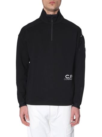 C.P. Company Sweatshirt With Henley Collar