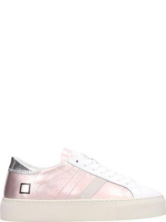 D.A.T.E. Laminated Leather Pink Vertigo Sneakers