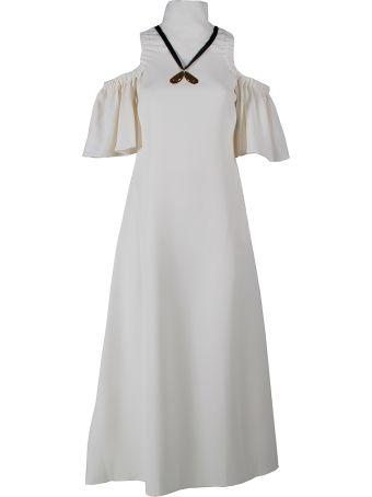Ellery Deity Cut-out Shoulder Dress