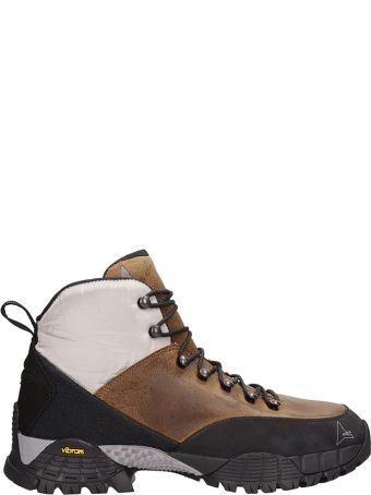 ROA Andreas Kudo Grey Leather Sneakers