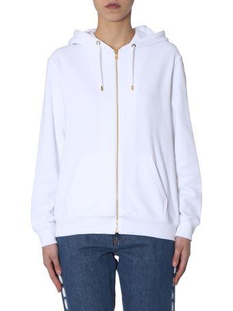 Moschino Hooded Sweatshirt With Zip Closure