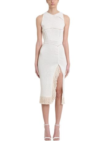 Magda Butrym Tandil Beige Cotton Fringe Dress