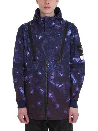 Stone Island Purple Polyester Jacket