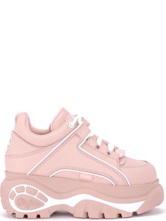 Buffalo 1339 Pink Leather Sneakers