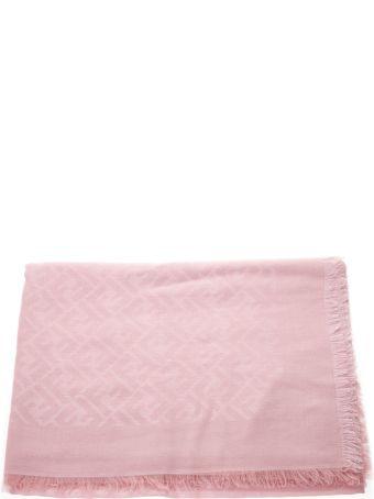 Fendi Pink Modal Logo Scarf
