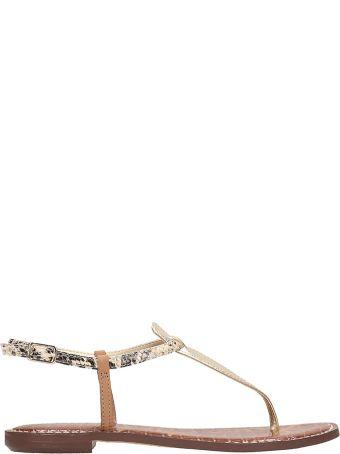 Sam Edelman Gold Leather Flats Sandals