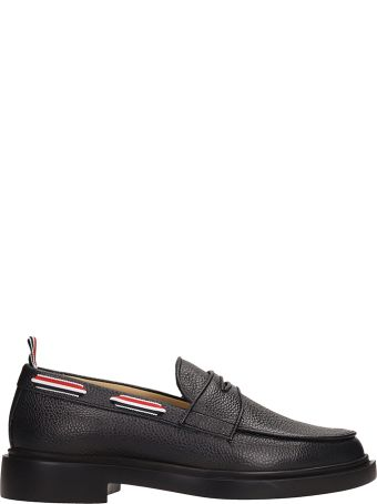 Thom Browne Black Leather Loafers