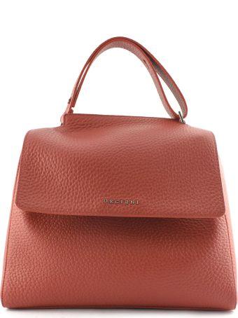 Orciani Red Leather Sveva Large Bag