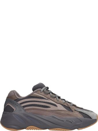 Adidas Browne Leather And Suede Yeezy Boost 700v2 Sneakers