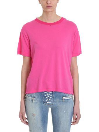 Ben Taverniti Unravel Project Distressed Skate Fucsia Jersey Fucsia T-shirt