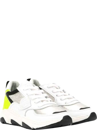 Philippe Model White Sneakers With Round Tip
