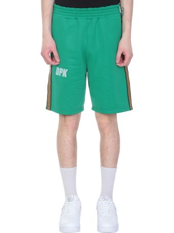 Danilo Paura x Kappa Green Polyester Shorts