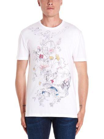 Alexander McQueen 'skull & Flowers' T-shirt