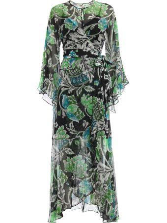 Diane Von Furstenberg Lizella Floral Crepe Maxi Wrap Dress