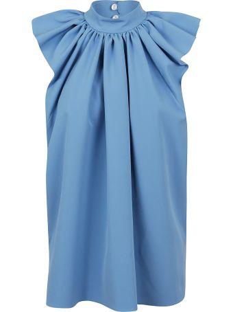Victoria Victoria Beckham Ruched Shoulder Sleevless Top