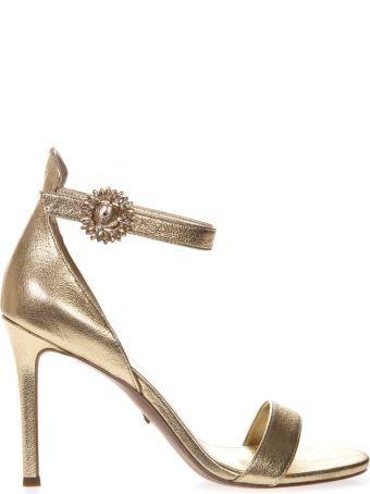 MICHAEL Michael Kors Viola Gold Leather Sandals