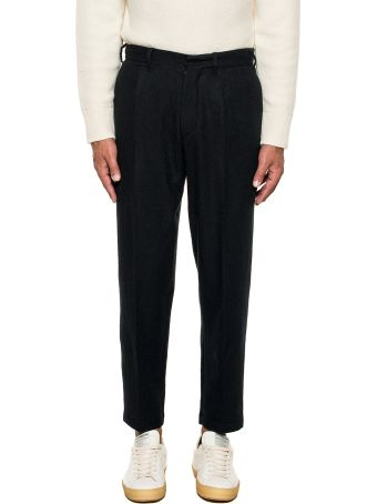 The Gigi Black Tonga Wool Trousers
