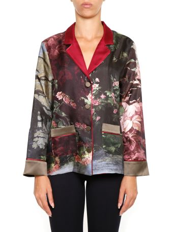 For Restless Sleepers Printed Silk Shirt