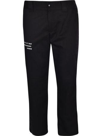 U.P.W.W. Printed Detail Straight Trousers