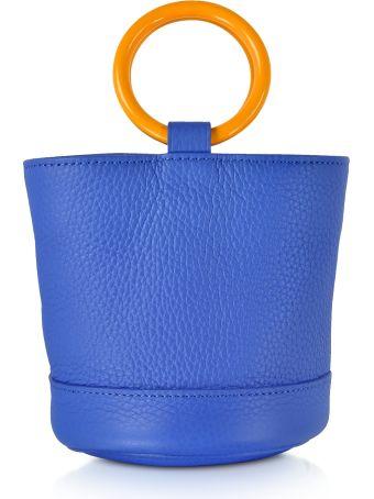 Simon Miller S801 Electric Blue Leather 15 Cm Bonsai Bag