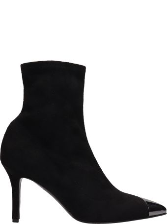 The Seller Black Fabric Ankle Boot