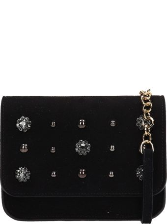 L'Autre Chose Black Suede Belt Bag