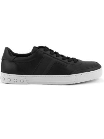 Tod's Sneakers In Black Nubuck