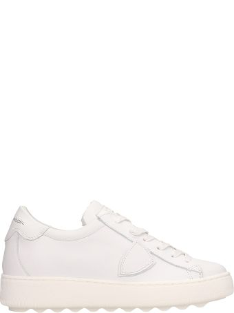Philippe Model White Leather Medeleine Sneakers