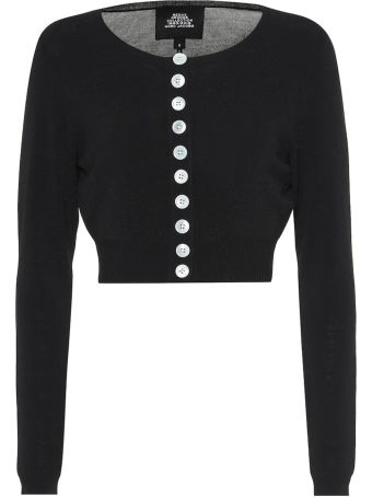 Marc Jacobs Cropped Viscose-blend Knit Cardigan
