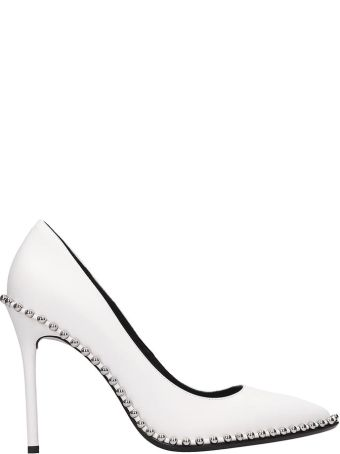 Alexander Wang Rie White Calf Leather Pumps