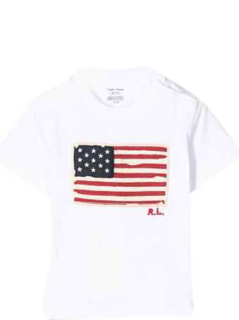 Ralph Lauren White T-shirt With Embroidered Logo