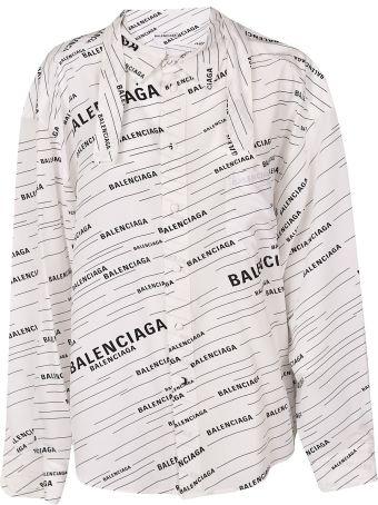 Balenciaga Logo Print Shirt