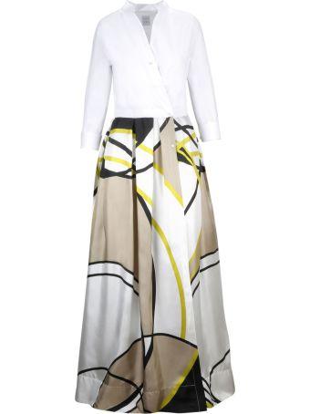 Sara Roka Abstract Print Dress