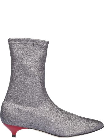 GIA COUTURE Glitter Effect Ankle Boots