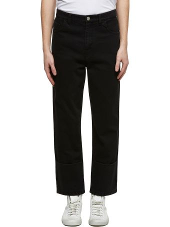 Raf Simons Straight Leg Cropped Jeans
